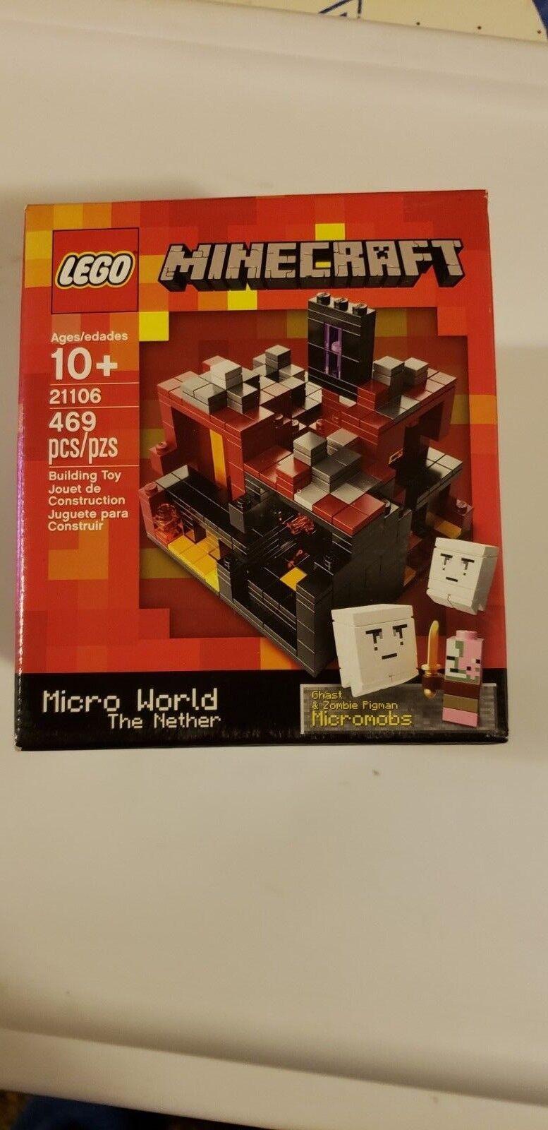 New LEGO 21106 Minecraft Micro World The Nether ROT  3 RetiROT Sealed