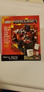 New-LEGO-21106-Minecraft-Micro-World-The-Nether-Red-3-Retired-Sealed