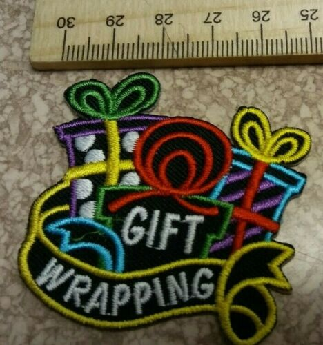 Girl Scout or Boy Scout Gift Wrapping Fun Patch New