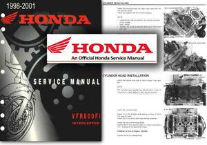 Honda Vfr800 Interceptor Service Workshop Manual Vfr 800 Fi Shop Rc46 1998 1999 Ebay