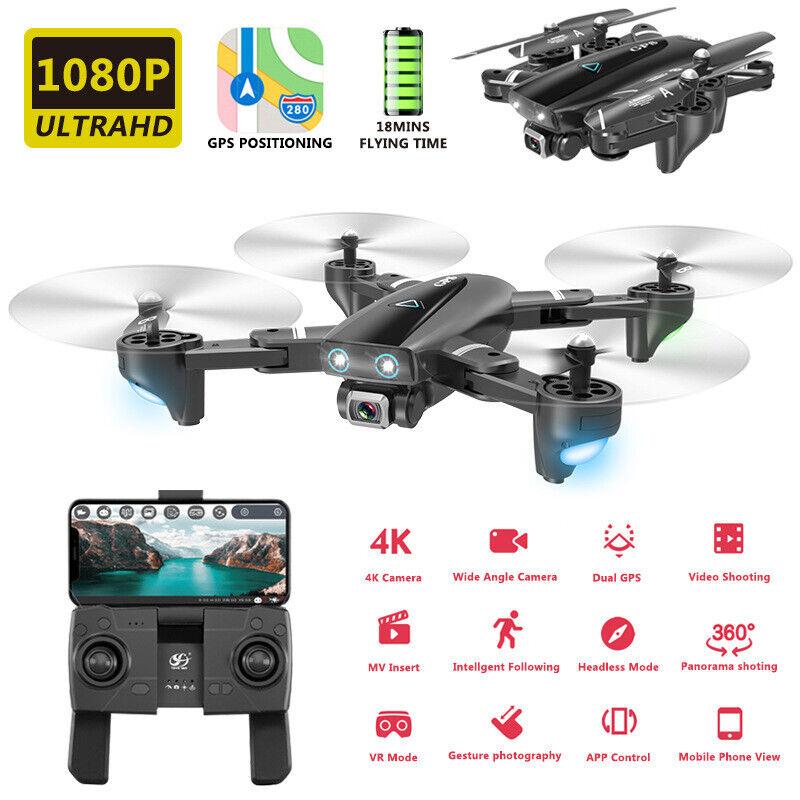 S167 RC Drone FPV Selfie Drone with 5G 1080P  HD teletelecamera GPS RTF RC Quadcopter WI  economico