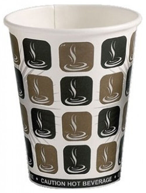 1000 x Mocha Paper 8oz Tea Coffee Cappuccino Disposable Hot Drink Drinks Cups