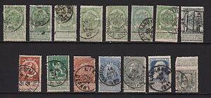 76F** Lot x15 Timbres-Classiques BELGIQUE (Obl.) (Légende bilingue) VWMrlkjZ-07140504-892108984