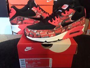 9d21a2b6eb Nike Air Max 90 Print Atmos We Love Nike Black Bright Crimson White ...