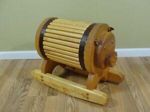 Vintage-Wooden-Wood-Kids-Pig-Rocking-Seat-Chair-17-034-Tall-Slat-Board
