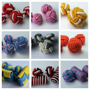 Luxury-Silk-Knot-Cufflinks-6-colours-Available