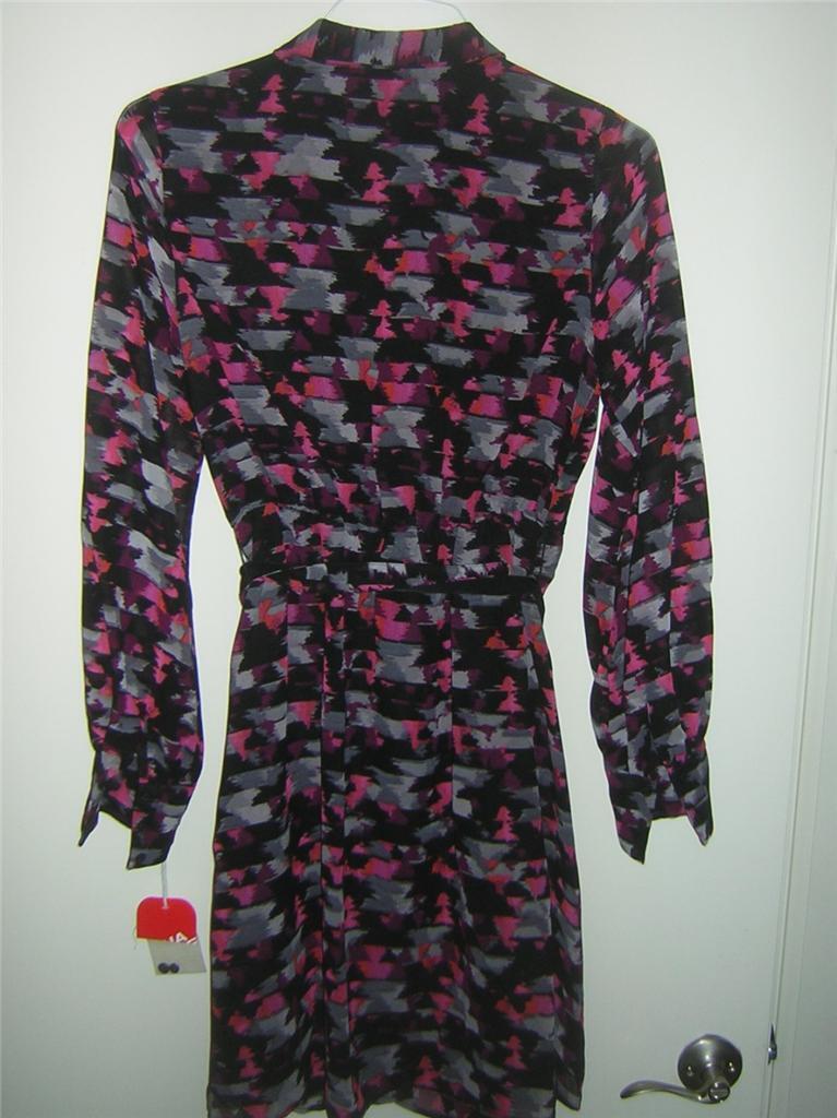 Kirna Zabete for Target Long-sleeve Shirt Dress Women's Sz SMALL NEW