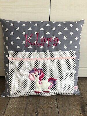 Baby Nursery Bedding Kissen 40x40 Mit Namen Und Tasche Neu Nach Wunsch