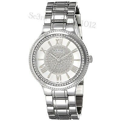 Delightful Colors And Exquisite Workmanship Novel Designs Special Section Authentic Guess Lady Madison Silver Tone Watch U0637l1 Rrp:$369 Brand New Famous For Selected Materials