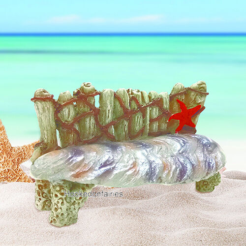 Astounding Shell Mermaid Bench Go 17603 Miniature Fairy Garden Gmtry Best Dining Table And Chair Ideas Images Gmtryco