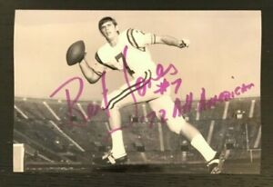 BERT JONES NCAA HOF LSU Tigers Football Auto Autographed Signed 4x6 Photo 2