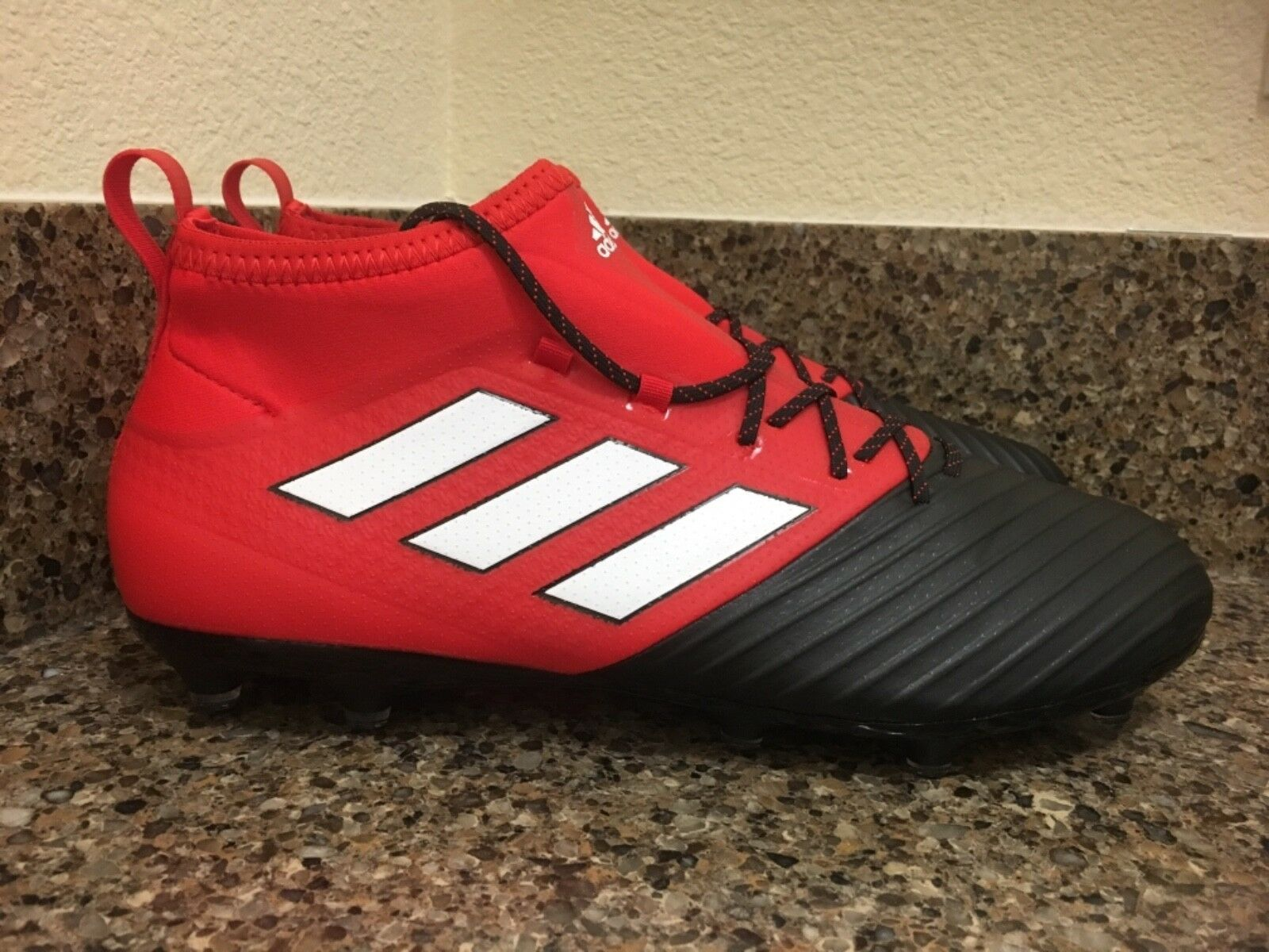 ADIDAS ACE 17.2 FG PRIMEMESH FG 17.2 Soccer Cleat RED/BLACK/WHITE BB4324 Sz 9.5 e94d13