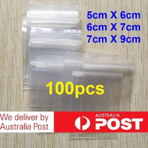 5-1000pcs AU Small Zip Lock Plastic Bags Reclosable Resealable Zipper Thick AU