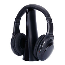 Wireless HI-FI Stereo Headphones Headset For MP3 Player TV CD DVD FM Radio