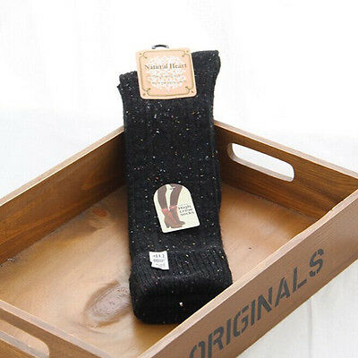 1Pair Womens Colorful Dot Wool Blend Long Knee Boot Socks Leg Warmers 4 Colours