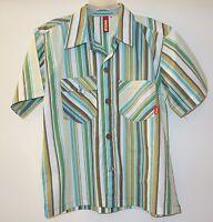 Boutique Brand Sonik Striped Short Sleeve Shirt Boy's Size 6