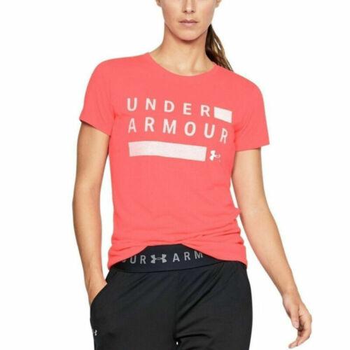 Under Armour Threadborne Twist Tech Graphic Pink Ladies Sports Gym Tshirt M