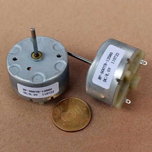 20mm Long Shaft DC 12V 5600RPM RF-500TB-12560 32mm Diameter Round Spindle Motor