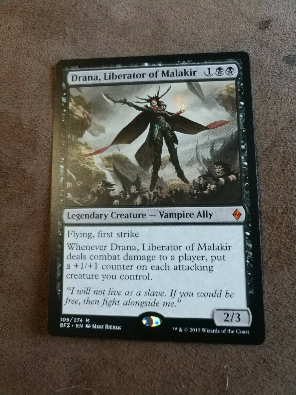 Liberator of Malakir Drana Near Mint Battle for Zendikar Magic//MTG