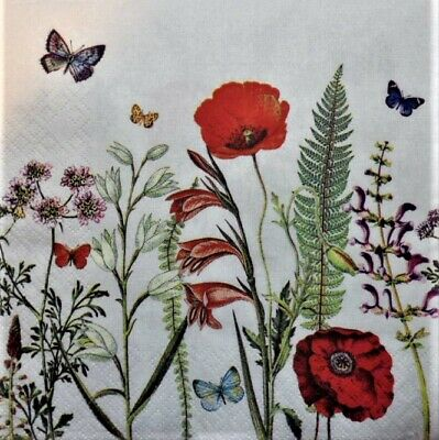 Decoupage Craft Mixed meadow 4x Paper Napkins for Party