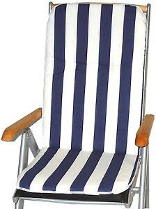 streifen blau weiss gartenstuhlauflagen kissen sitzpolster f r gartenm bel ebay. Black Bedroom Furniture Sets. Home Design Ideas