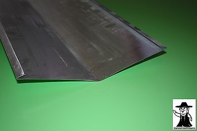 Regenrinnen & Zubehör Brillant Kehlblech Kehle Dachblech Alu Aluminium 1 M Lang 0,8 Mm Stark