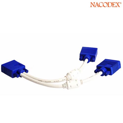 1 Foot Nacodex VGA Monitor Y Splitter