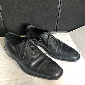 c423ff16a8 Men s Dress Shoes Bostonian Oxford Size 10 M Black Leather Wingtip ...