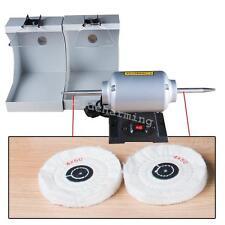 Dental lab jewelry Polishing polisher Bench Lathe machine 2 burnishing hoods CE