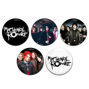 5x-My-Chemical-Romance-Band-Emo-Pop-Punk-Rock-25mm-1-Inch-D-Pin-Button-Badges