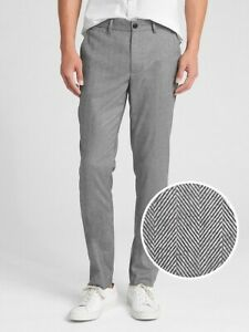 Gap-Men-039-s-Brushed-Grey-Twill-Pants-in-Skinny-Fit-with-GapFlex-36W32L-NWT-RRP-120