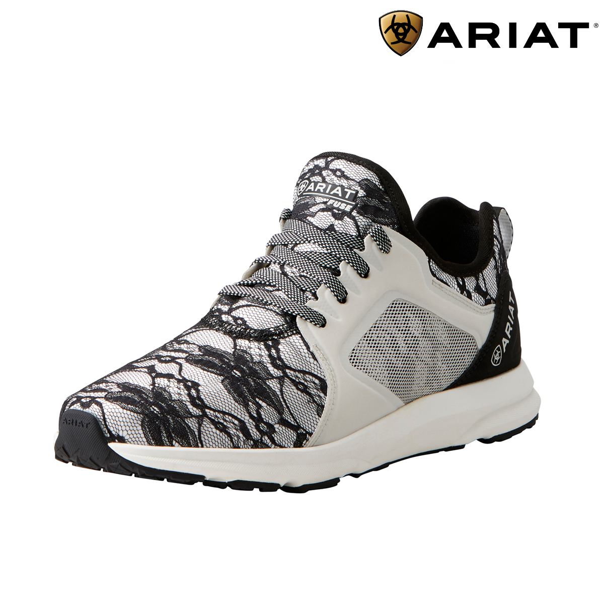 Ariat Fuse Womens Trainers - Black Lace SALE  FREE UK Shipping