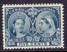 CANADA #54 MINT HINGED 1897 JUBILEE ISSUE, CV$70.00 GP88