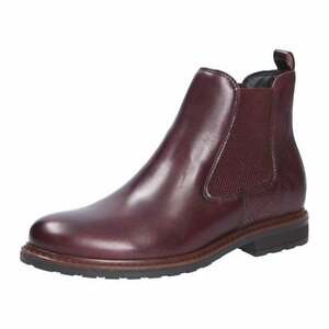 Details about Tamaris 25056 23 Bordeaux Leather Ankle Boot