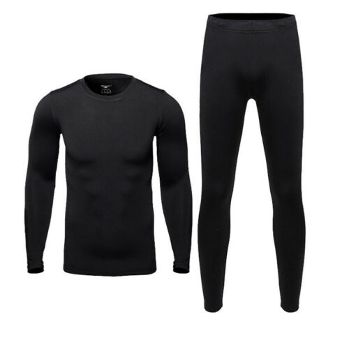 Men/'s Long Sleeve Thermal Underwear Johns Winter Warm Basic Crew Tops Shirt US