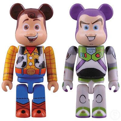 Medicom Toy Be@brick 100/% Toy Story 3 Buzz Lightyear /& Woody Bearbrick Set