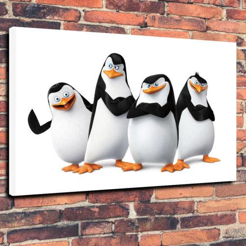 """Madagascar Pingouins Film Toile Imprimée Photo Art A1.30/""""x20/"""" 30 mm Deep"""