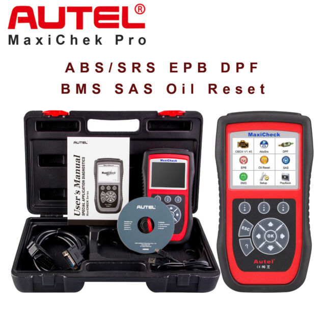 Autel Maxicheck Pro Obd2 Car Diagnostic Tool Code Scanner Epb Abs Srs Sas Airbag