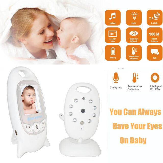 Wireless 2.4GHz Digital Color LCD Baby Monitor Camera Night Vision Audio Video B