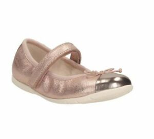 Clarks-PINK-ROSE-GOLD-Leather-Dance-Party-Rosa-Ballet-Dolly-Pumps-NEW-IN-BOX