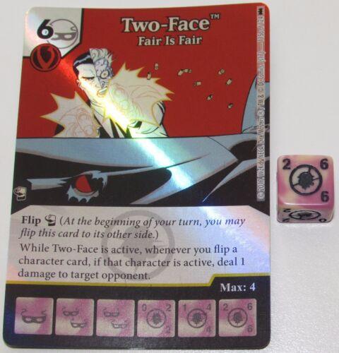 FOIL TWO-FACE FAIR IS FAIR 115//124 Batman Dice Masters DC Rare