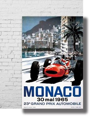 New Vintage 1965 23rd Monaco Grand Prix Motor Racing Poster 14x21 24x36 X-3285