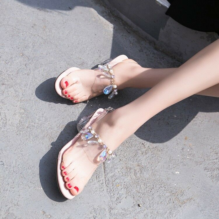 Sexy Para mujeres Claro Sandalias Transparente Claro mujeres Tacones Altos Tobillo con Tiras Zapatos Puntera Abierta 685686