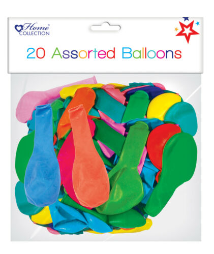Any Occasion Pack Of 20 Assorted Multicoloured Air Fill//Helium Party Balloons
