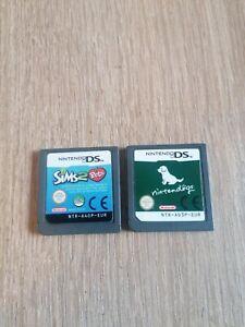 Lot jeux nintendo ds 3ds nintendogs Sims 2