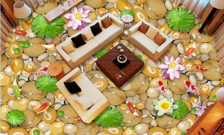 3D pietra liscio fiore Pavimento Foto Wallpaper Murales Muro Stampa Decalcomania