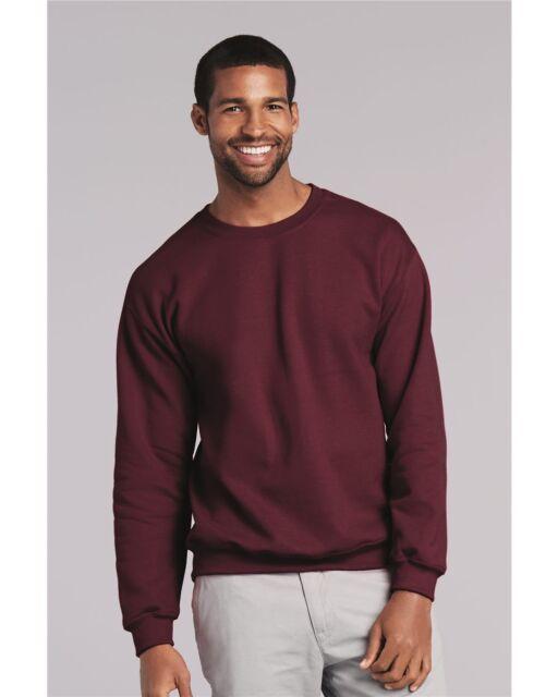 Medium Maroon Jerzees Cotton Crewneck Sweatshirt