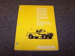 1996 Mazda B2300 B3000 B4000 Truck Body Electrical Wiring ...