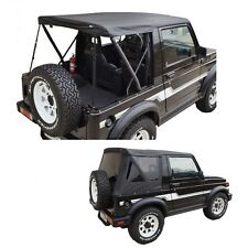 1986-1994 Suzuki Samurai Replacement Soft Top w/ Removable Tinted Windows Black