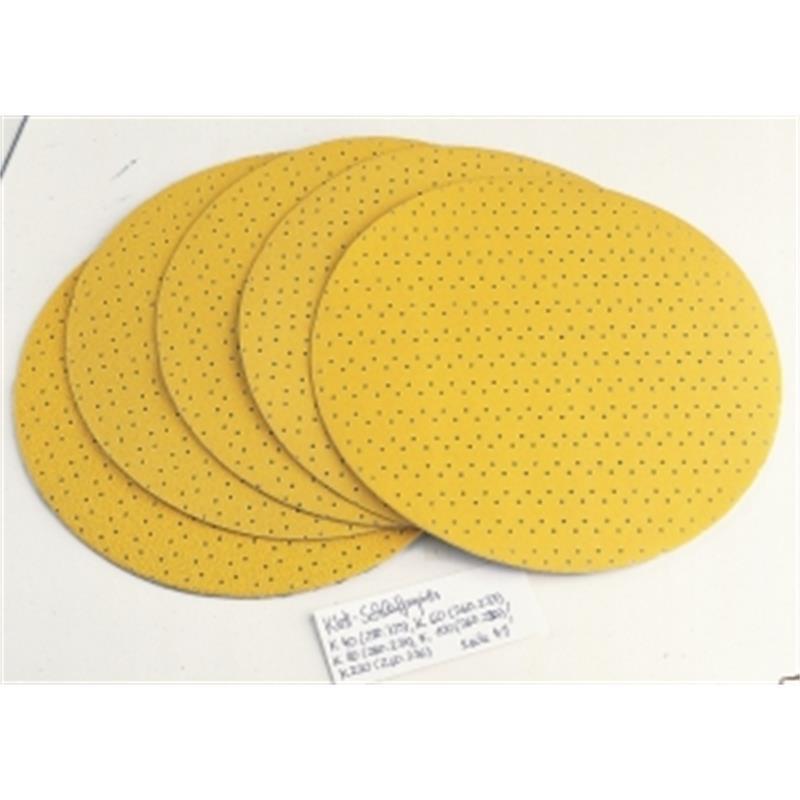 Flex Klett-Schleifpapier (perforiert) D225 PF-P80 VE25, 260.234